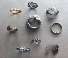 14th to 17th century finger rings from a castle of the Grand Duchy of Lithuania. Exhibited at the Lithuanian Art Museum. Source: http://www.ldm.lt/Naujausiosparodos/Valdovu_rumu_virt_e.htm