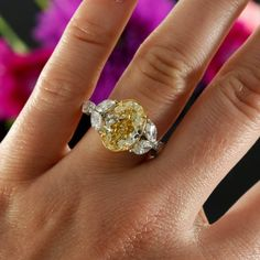 Yellow Oval Diamond Engagement Ring | Hinsdale IL