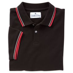 7b3df68345de0 Black   red tipped short sleeve regular fit polo shirt Polo Shirts, Short  Sleeves,