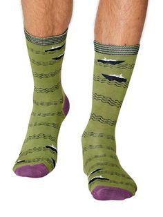 Polka women/'s soft bamboo crew socks in redBy Doris /& Dude