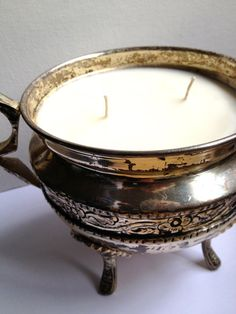 Vintage Silver Soy Candle
