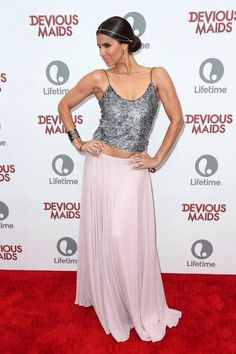 Roselyn Sanchez in Gustavo Arango  Devious Maids Red Carpet