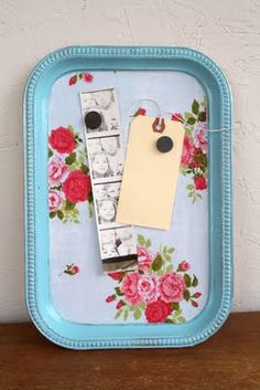 Vintage magnetic trays. Great idea to paint old metal trays. How did I not think of that already?!