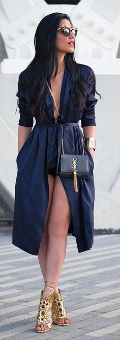 Gold And Navy Chic Style