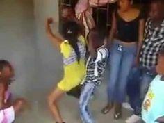 Little boy and little girl dance