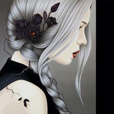 """The secret life of Magnolia"" by Duma Oil on canvas, 80 x 80 cm"