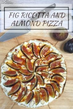 Figs are a precious treat to enjoy on top of this protein and fiber packed Fig Ricotta and Almond Pizza! @LaurenPincusRD www.NutritionStarringYOU.com