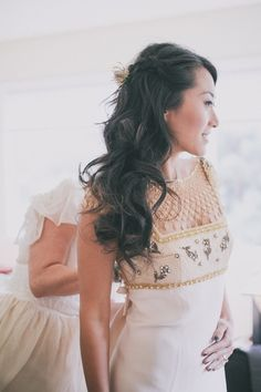 Vintage 60s wedding gown | Photo by Edyta Szyszlo Photography | Read more - http://www.100layercake.com/blog/?p=70192