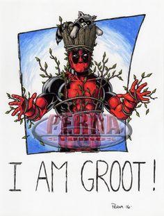 Deadpool 9 X 12 Color Art by tonyperna