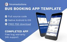 Buy Blue Bus Ticket Booking - Android App Template by HiComSolutions on CodeCanyon. Bus ticket booking template blue version is completed app in native source code of android. The app is for passengers. Ios App Design, Flyer Design, Company Introduction, Blue Bus, Bus Tickets, Bus Travel, Free Photoshop, Bus Station, Read News
