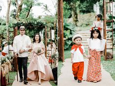 Check Out This Fun Filipiniana Wedding with All Its Traditional Beauty! Filipiniana Wedding Theme, Wedding Dresses, Luxury Wedding, Dream Wedding, Tagaytay Wedding, Filipino Wedding, Philippines Fashion, Bride And Breakfast, Groom And Groomsmen Attire