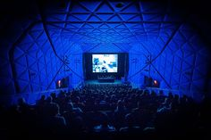 10 Questions With... Moore + Friesl | A view of the main 267-seat theater at the Museum of the Moving Image. #design #interiordesign #interiordesignmagazine #architecture #theater