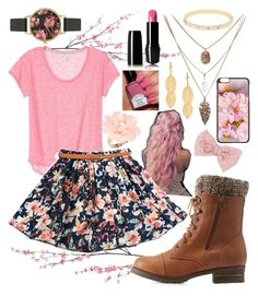 """Pink Pink Pink"" by makaypay on Polyvore featuring Pier 1 Imports, Charlotte Russe, Olivia Burton, Lancôme, Decree, Kate Spade, Dettagli, Bling Jewelry, women's clothing and women"