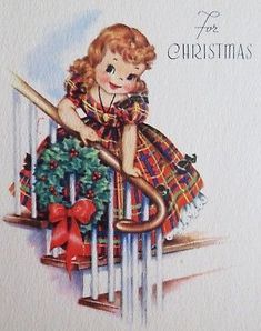 Ideas Vintage Christmas Cards Trees For 2019 Vintage Christmas Images, Retro Christmas, Christmas Pictures, Christmas Art, Christmas Greetings, Christmas Stocking, Diy Crafts Vintage, Christmas Illustration, Vintage Greeting Cards
