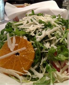 This is the Arugula and Orange Salad at Aldo's Cafe Los Gatos. Website Menu, Italian Cafe, Orange Salad, Favourite Pizza, Arugula Salad, Wine And Beer, Seaweed Salad, Aldo, Yummy Food