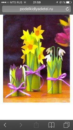 50 Ideas Craft Paper Towel Rolls For 2019 Preschool Crafts, Diy Crafts For Kids, Easter Crafts, Flower Crafts, Diy Flowers, Paper Flowers, Book Flowers, Art N Craft, Spring Art