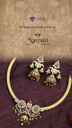 Gold Earrings Designs, Beaded Jewelry Designs, Gold Jewellery Design, Antique Jewellery, Necklace Designs, Gold Jewelry, Jewelery, Gold Necklace, Trendy Jewelry