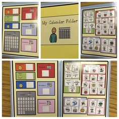 basic calendar skills for students with special needs and autism.  calendar file folder activities