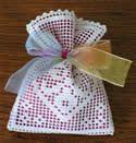 10365 Crochet lavender sachet embroidery set