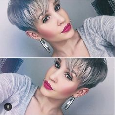 "2,815 Likes, 37 Comments - Short Hairstyles   Pixie Cut (@nothingbutpixies) on Instagram: ""@prettyfacesxo  @prettyfacesxo"""