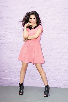 Camila of Fifth Harmony inspired this bright pink skater dress, part of the Fifth Harmony for Wet Seal Collection. Fifth Harmony, Camilla, Girl Bands, Love Her Style, Wet Seal, Latest Fashion Clothes, Women's Fashion, Skater Dress, Fit And Flare