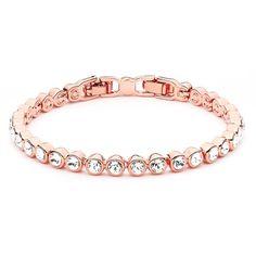 Tennis Bracelet with Swarovski® Crystals Rose Gold Plated