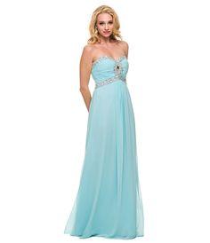 Aqua Chiffon  Sequin Keyhole Gown 2015 Prom Dresses $148.00 AT vintagedancer.com
