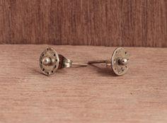 hand made silver stud earrings by Goldie Higgins