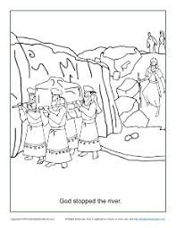 Image Result For Crossing The Jordan River Craft Bible Coloring Pages Coloring Pages Sunday School Coloring Pages