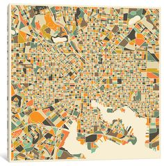 Abstract City Map of Baltimore