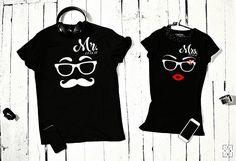 Camisetas para pareja Sr. Señora.
