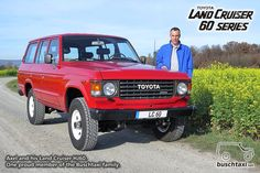 Axel and his Land Cruiser HJ60. One proud member of the Buschtaxi Family.  #buschtaxi #landcruiser #60series #j6 #hj60 #toyota