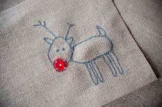 Rudolph embroidery