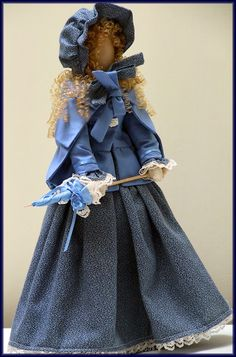 "Linda Walsh Originals Dolls and Crafts Blog: My ""Linda"" Victorian Faceless ""Lady"" Art Doll New E-Pattern and Handmade Dolls"