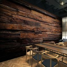 BVM Home brings together a thrilling selection of wallpapers, wall murals, wall art and home décor accessories: inspiring, fun, creative … Wooden Wall Decor, Wooden Walls, Wall Wood, Wood Interior Walls, Wooden Wall Design, Log Wall, Wooden Wall Panels, Wood Panel Walls, Wood Grain Wallpaper