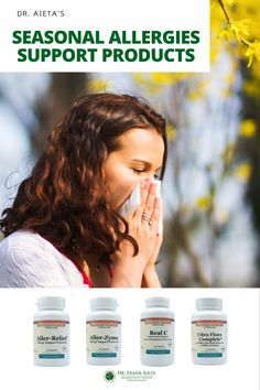 Are you suffering from Seasonal Allergies? Do you need quick relief? Dr. Aieta offers natural support products for all your allergy symptoms! Learn more at draieta.com #draieta #allergyrelief #allergy Seasonal Allergy Remedies, Seasonal Allergy Symptoms, Natural Remedies For Allergies, Seasonal Allergies, Severe Allergy Symptoms, Natural Allergy Relief, Pollen Allergies, Natural Supplements