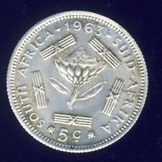 1963 Sixpence coin, 5 cent , South Africa, Silver, No reserve for R35.00