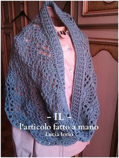 crocheted capelet shawl scarf