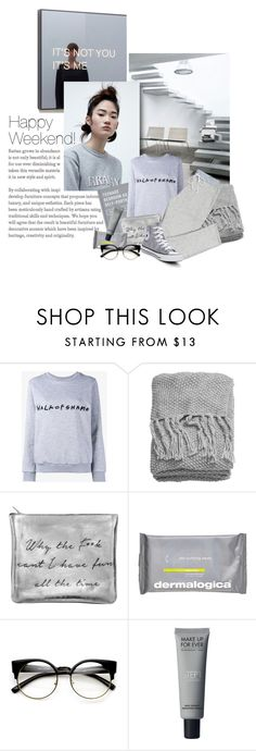 """""""Happy Weekend!"""" by lacas ❤ liked on Polyvore featuring Shin Choi, Walk of Shame, H&M, Dermalogica, ZeroUV and Converse"""