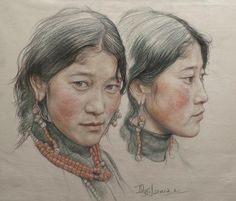 Portrait of twin girls in Tibet by william690c.deviantart.com on @deviantART