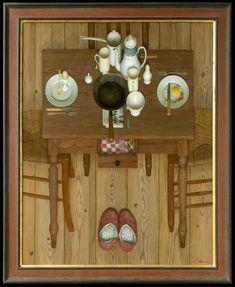 Kenne Fregoire - Gebakken of gekookt - 120 x 95 cm - acryl op linnen - 2011