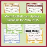 Free charts, calendars and planner pages