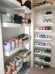 Storage Bins for Closet Shelves . Storage Bins for Closet Shelves . My Closet Reveal Girls Sneakers, Sneakers Fashion, Shoes Sneakers, Adidas Fashion, Adidas Sneakers, Trainers Adidas, Fashion Trainers, Yeezy Shoes, Adidas Shirt
