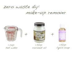 What?! This is the easiest thing! diy make-up remover