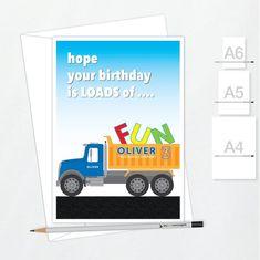 Third Birthday Card Little Boy 3 3rd Boat Ship Grandson Nephew Brother Son Age
