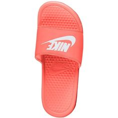 Nike Benassi JDI Women's Slide Sandals ($25) ❤ liked on Polyvore featuring shoes, sandals, kohl shoes, nike, nike shoes, nike footwear and black slide sandals