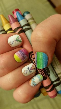 Turn kids drawings into nail art!! This would be a great idea for a X-Mas/Mothersday gift!! Buy 3 get 1 free!! http://shaynemarie.jamberrynails.com.au