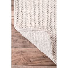 nuLOOM Handmade Braided Cable White New Zealand Wool Rug (3' x 5') | Overstock.com Shopping - The Best Deals on 3x5 - 4x6 Rugs