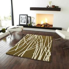We share with you area rugs for living room, modern living room rugs, classic living room rugs in this photo gallery. Classic Living Room, Living Room Modern, Rugs In Living Room, Contemporary Rugs, Modern Rugs, Contemporary Furniture, Fireplace Mantle, Simple Fireplace, Indoor Rugs