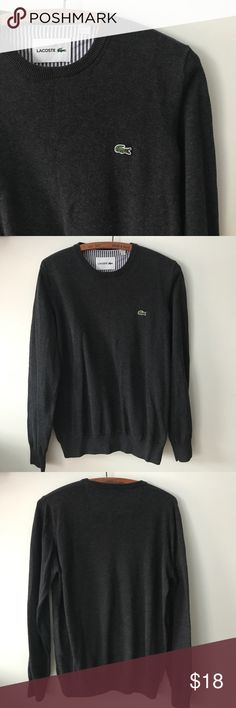 Men's Lacoste Good condition men's Lacoste cotton sweater. Flattering fit. casual feel Lacoste Sweaters Crewneck